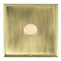 Hamilton Linea-Scala CFX Polished Brass/Antique Brass Push On/Off Dimmer 1 Gang 2 way with Polished Brass Insert