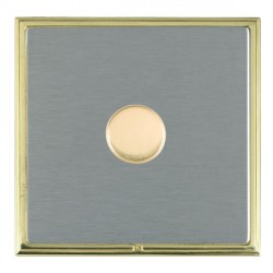 Hamilton Linea-Scala CFX Polished Brass/Satin Steel Push On/Off Dimmer 1 Gang 2 way with Polished Brass I...