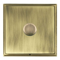 Hamilton Linea-Scala CFX Antique Brass/Antique Brass Push On/Off Dimmer 1 Gang 2 way with Antique Brass I...