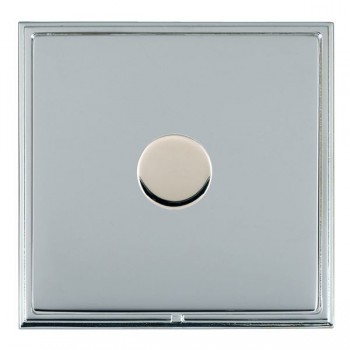 Hamilton Linea-Scala CFX Bright Chrome/Bright Chrome Push On/Off Dimmer 1 Gang 2 way with Bright Chrome Insert