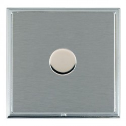 Hamilton Linea-Scala CFX Bright Chrome/Satin Steel Push On/Off Dimmer 1 Gang 2 way with Bright Chrome Ins...