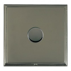 Hamilton Linea-Scala CFX Black Nickel/Black Nickel Push On/Off Dimmer 1 Gang 2 way with Black Nickel Inse...