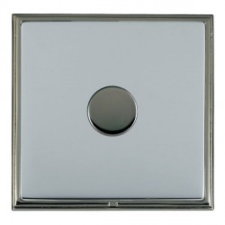 Hamilton Linea-Scala CFX Black Nickel/Bright Steel Push On/Off Dimmer 1 Gang 2 way with Black Nickel Inse...