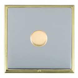 Hamilton Linea-Scala CFX Polished Brass/Bright Steel Push On/Off Dimmer 1 Gang 2 way with Polished Brass ...