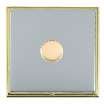 Hamilton Linea-Scala CFX Polished Brass/Bright Steel Push On/Off Dimmer 1 Gang 2 way with Polished Brass Insert