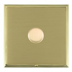 Hamilton Linea-Scala CFX Polished Brass/Satin Brass Push On/Off Dimmer 1 Gang 2 way with Polished Brass Insert