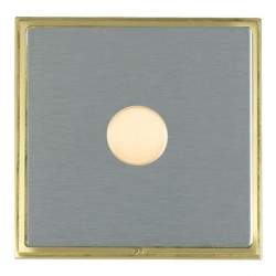 Hamilton Linea-Scala CFX Satin Brass/Satin Steel Push On/Off Dimmer 1 Gang 2 way with Satin Brass Insert