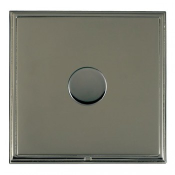 Hamilton Linea-Scala CFX Black Nickel/Black Nickel Push On/Off Dimmer 1 Gang Multi-way Trailing Edge with Black Nickel Insert