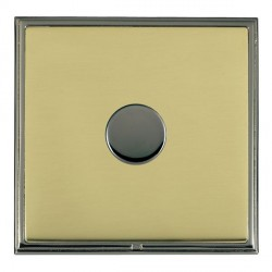 Hamilton Linea-Scala CFX Black Nickel/Polished Brass Push On/Off Dimmer 1 Gang Multi-way Trailing Edge with Black Nickel Insert