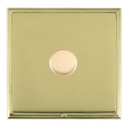 Hamilton Linea-Scala CFX Polished Brass/Polished Brass Push On/Off Dimmer 1 Gang Multi-way Trailing Edge with Polished Brass Insert