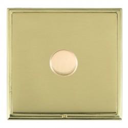 Hamilton Linea-Scala CFX Polished Brass/Polished Brass Push On/Off Dimmer 1 Gang Multi-way Trailing Edge ...