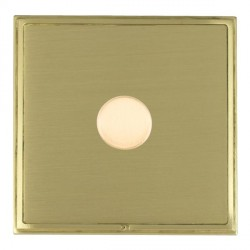 Hamilton Linea-Scala CFX Satin Brass/Satin Brass Push On/Off Dimmer 1 Gang Multi-way Trailing Edge with Satin Brass Insert