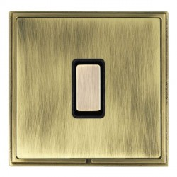 Hamilton Linea-Scala CFX Antique Brass/Antique Brass 1 Gang Multi way Touch Master Trailing Edge with Black Insert