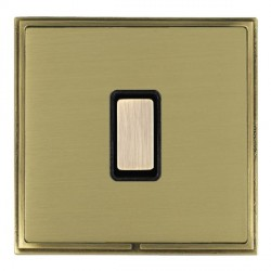 Hamilton Linea-Scala CFX Antique Brass/Satin Brass 1 Gang Multi way Touch Master Trailing Edge with Black Insert