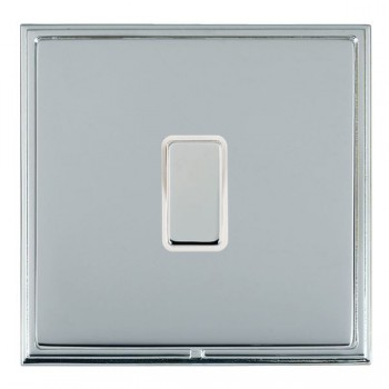 Hamilton Linea-Scala CFX Bright Chrome/Bright Chrome 1 Gang Multi way Touch Master Trailing Edge with White Insert