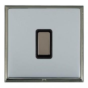 Hamilton Linea-Scala CFX Black Nickel/Bright Steel 1 Gang Multi way Touch Master Trailing Edge with Black Insert