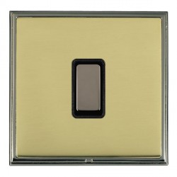 Hamilton Linea-Scala CFX Black Nickel/Polished Brass 1 Gang Multi way Touch Master Trailing Edge with Black Insert