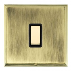 Hamilton Linea-Scala CFX Polished Brass/Antique Brass 1 Gang Multi way Touch Master Trailing Edge with Black Insert