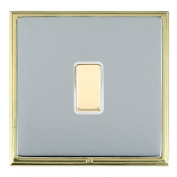 Hamilton Linea-Scala CFX Polished Brass/Bright Steel 1 Gang Multi way Touch Master Trailing Edge with White Insert