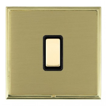 Hamilton Linea-Scala CFX Polished Brass/Satin Brass 1 Gang Multi way Touch Master Trailing Edge with Black Insert