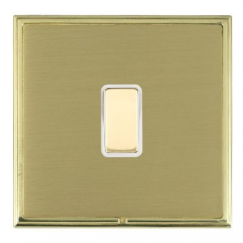 Hamilton Linea-Scala CFX Polished Brass/Satin Brass 1 Gang Multi way Touch Master Trailing Edge with White Insert