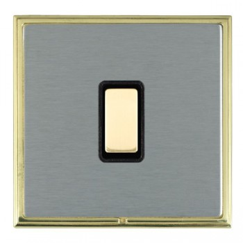 Hamilton Linea-Scala CFX Polished Brass/Satin Steel 1 Gang Multi way Touch Master Trailing Edge with Black Insert