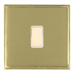 Hamilton Linea-Scala CFX Satin Brass/Satin Brass 1 Gang Multi way Touch Master Trailing Edge with White I...