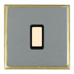 Hamilton Linea-Scala CFX Satin Brass/Satin Steel 1 Gang Multi way Touch Master Trailing Edge with Black I...