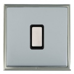 Hamilton Linea-Scala CFX Satin Nickel/Bright Steel 1 Gang Multi way Touch Master Trailing Edge with Black...