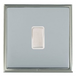 Hamilton Linea-Scala CFX Satin Nickel/Bright Steel 1 Gang Multi way Touch Master Trailing Edge with White...