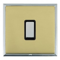 Hamilton Linea-Scala CFX Bright Chrome/Polished Brass 1 Gang Multi way Touch Slave Trailing Edge with Bla...