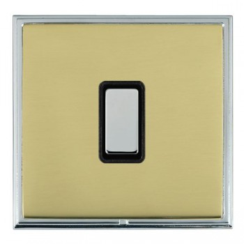 Hamilton Linea-Scala CFX Bright Chrome/Polished Brass 1 Gang Multi way Touch Slave Trailing Edge with Black Insert