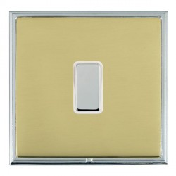 Hamilton Linea-Scala CFX Bright Chrome/Polished Brass 1 Gang Multi way Touch Slave Trailing Edge with White Insert