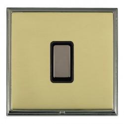Hamilton Linea-Scala CFX Black Nickel/Polished Brass 1 Gang Multi way Touch Slave Trailing Edge with Blac...
