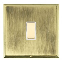 Hamilton Linea-Scala CFX Polished Brass/Antique Brass 1 Gang Multi way Touch Slave Trailing Edge with White Insert