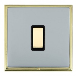 Hamilton Linea-Scala CFX Polished Brass/Bright Steel 1 Gang Multi way Touch Slave Trailing Edge with Black Insert