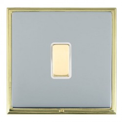 Hamilton Linea-Scala CFX Polished Brass/Bright Steel 1 Gang Multi way Touch Slave Trailing Edge with Whit...