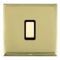 Hamilton Linea-Scala CFX Polished Brass/Polished Brass 1 Gang Multi way Touch Slave Trailing Edge with Black Insert