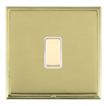 Hamilton Linea-Scala CFX Polished Brass/Polished Brass 1 Gang Multi way Touch Slave Trailing Edge with White Insert