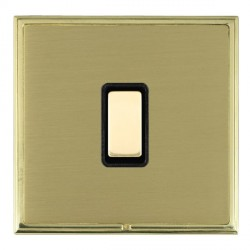 Hamilton Linea-Scala CFX Polished Brass/Satin Brass 1 Gang Multi way Touch Slave Trailing Edge with Black Insert