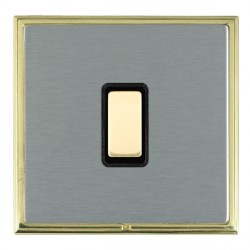 Hamilton Linea-Scala CFX Polished Brass/Satin Steel 1 Gang Multi way Touch Slave Trailing Edge with Black Insert