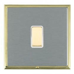 Hamilton Linea-Scala CFX Polished Brass/Satin Steel 1 Gang Multi way Touch Slave Trailing Edge with White Insert