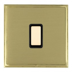 Hamilton Linea-Scala CFX Satin Brass/Satin Brass 1 Gang Multi way Touch Slave Trailing Edge with Black Insert