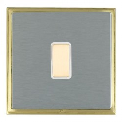 Hamilton Linea-Scala CFX Satin Brass/Satin Steel 1 Gang Multi way Touch Slave Trailing Edge with White Insert