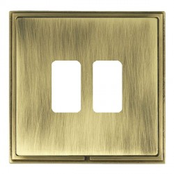 Hamilton Linea-Scala CFX Antique Brass/Antique Brass 2 Gang Grid Fix Aperture Plate with Grid