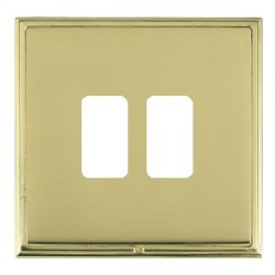 Hamilton Linea-Scala CFX Polished Brass/Polished Brass 2 Gang Grid Fix Aperture Plate with Grid