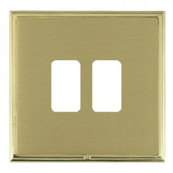 Hamilton Linea-Scala CFX Polished Brass/Satin Brass 2 Gang Grid Fix Aperture Plate with Grid