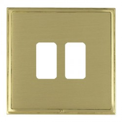 Hamilton Linea-Scala CFX Satin Brass/Satin Brass 2 Gang Grid Fix Aperture Plate with Grid