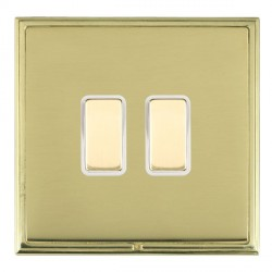 Hamilton Linea-Scala CFX Polished Brass/Polished Brass 2 Gang Multi way Touch Master Trailing Edge with W...