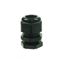 20mm Black Nylon Cable Gland With Small Hole